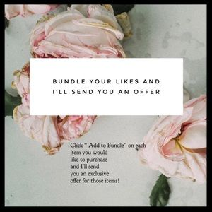 🌷BUNDLE YOUR LIKES FOR A PRIVATE OFFER🌷